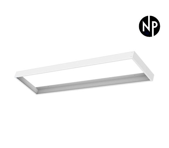 Nordic Products Hvit Ramme For Led Panel 120x30cm Med Hurtig Montering