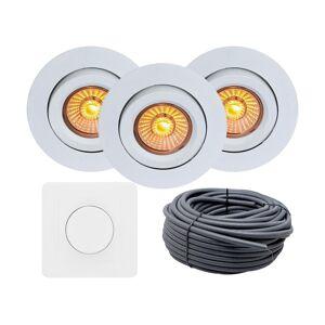 Nordic Products Komplett Lavtbyggende Isolasjon 5W WarmDim LED Downlight Matt Hvit IP44 20-pk