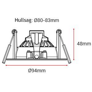 Nordic Products LED Downlight 3000K 9W 360 Tilt Matt Sort