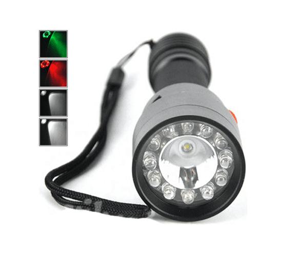 LED Lommelykt + 2x Varsellys CREE Oppladbar