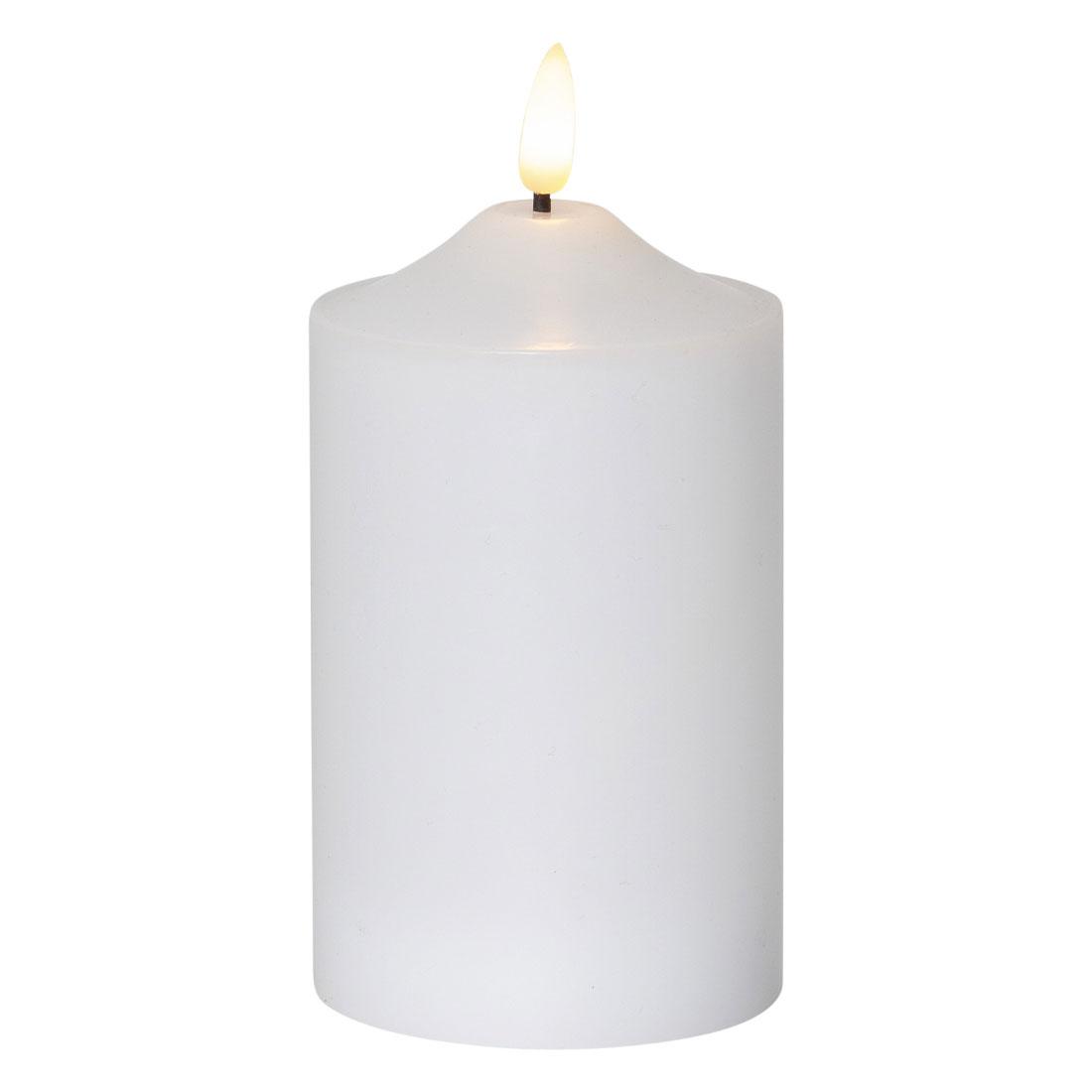 Star Trading LED Block Light Flame 15cm hvit