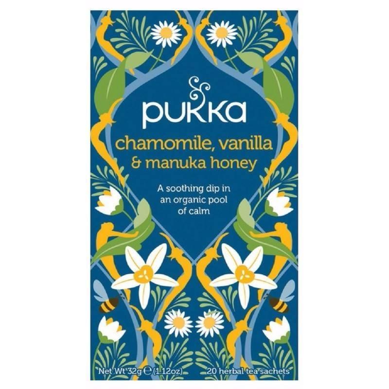 Pukka Chamomile, Vanilla & Manukahoney Tea - Organic