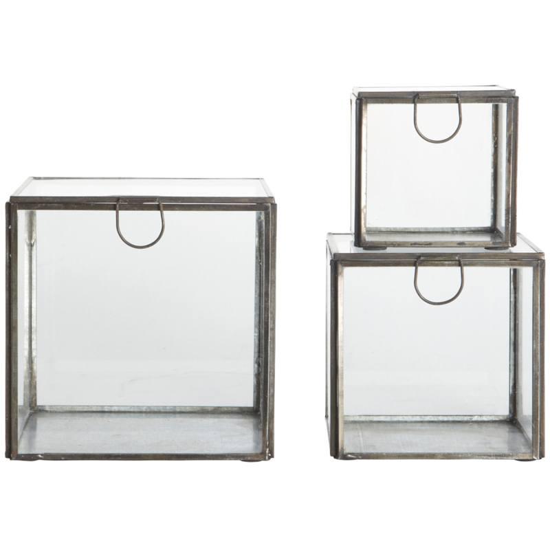 House Doctor Storage Boxes Set Of 3 Sizes Blackantique