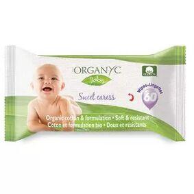 Organyc våtservietter for barn - 60 stykker