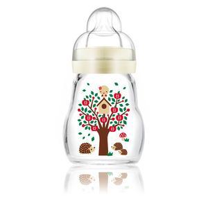 MAM - glasståteflaske - 170 ml - 0 mdr+ - nøytral