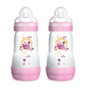 MAM Anti-kolikk tåteflaske 260 ml - rosa / lilla - 2 stk