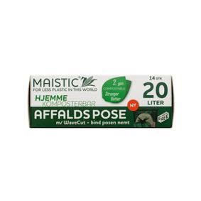 Maistic Bio Group Maistic komposterbare avfallsposer 20 L, wave cut - 14 stk.