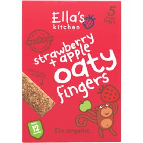 Ellas Kitchen Ella´s Kitchen Babykjeks, jordbær & eple Ø - 12 mdr