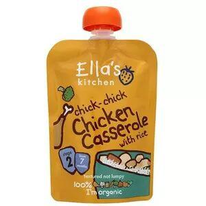 Ellas Kitchen Ella's Kitchen Chicken Casserole with Rice babymos, 7+ mdr. Ø -