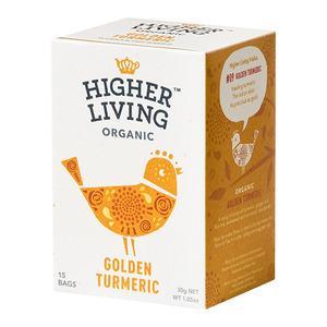 Higher Living Golden Turmeric Tea Ø - 15 poser