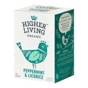 Higher Living Peppermint & Licorice Tea Ø - 15 poser