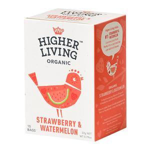 Higher Living Strawberry & Watermelon Tea Ø - 15 poser