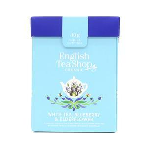 English Tea Shop White Tea Blueberry & Elderflower fra English Tea Shop Ø – 20 ps