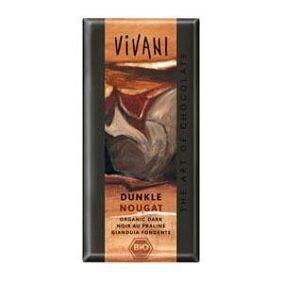 Vivani mørk sjokolade med nougat Ø - 100 g