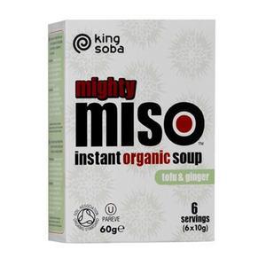 King Soba Miso suppe Tofu & Ingefær Ø - 60 g