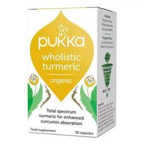 Pukka Wholisitic Turmermic - 30 kaps.
