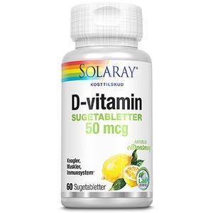 Solaray D-vitamin 50 µg - 60 tab
