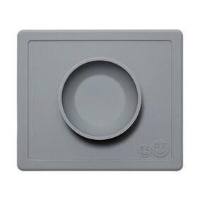 Ezpz happy bowl - sklisikker skål i silikon - grå