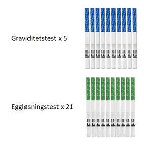 Graviditetstest x 5 - Eggløsningstest x 21 - Strimmel