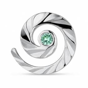 Jane Kønig Impression Stud with Emerald Sølv