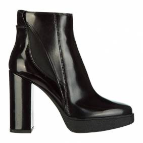 Tod's leather heel ankle boots