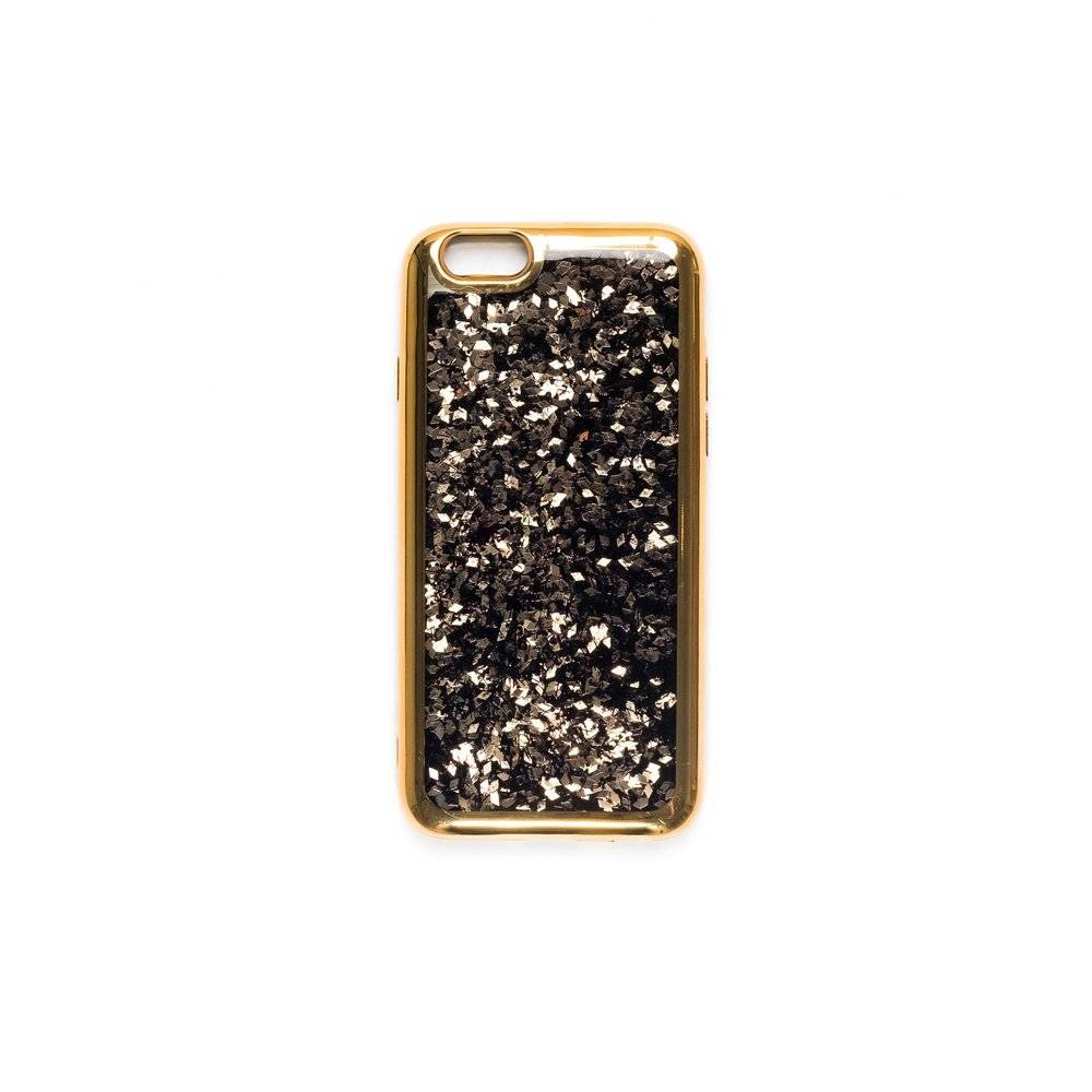 Dark Iphone Cover Black MIX W/gold Flakes