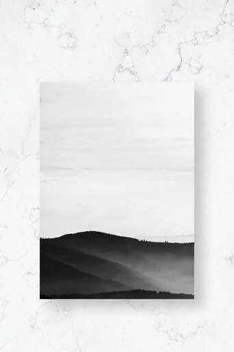 Malerifabrikken Poster Mystic Scenery 2 Hvit  Male Hvit