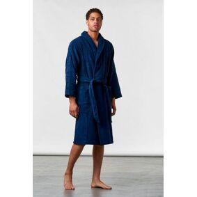 Calvin Klein Terry Logo Robe 8sb Blå  Male Blå