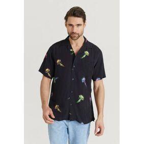 Oas Kortermet Skjorte Shirt Svart  Male Svart