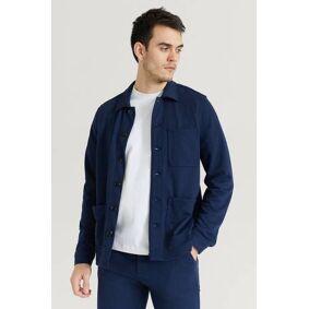 Studio Total Soft Overshirt Blå  Male Blå