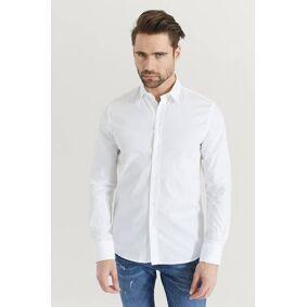 Filippa K Skjorte M. Paul Stretch Shirt Hvit  Male Hvit