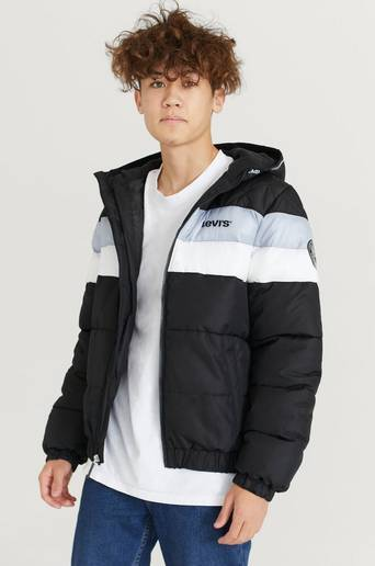 Levi'S Boblejakke Lvn Colorblock Jacket Svart  Male Svart