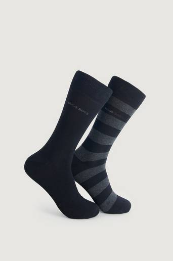 Boss Sokker 2-Pk Block Stripe Sock Svart  Male Svart