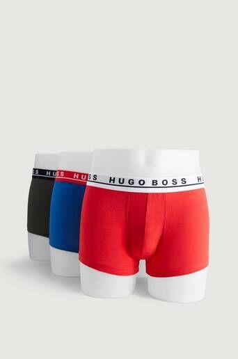 Boss 3-Pk Boxershorts Trunk Rød  Male Rød