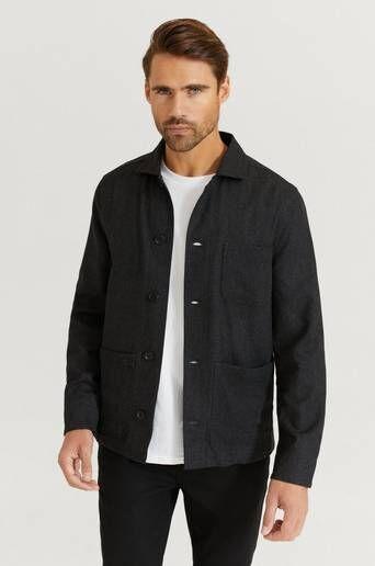 Filippa K Overshirt M. Louis Flannel Jacket Grå  Male Grå