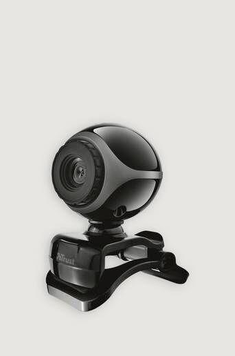 Trust Exis Webcam - Svart/sølv  Male