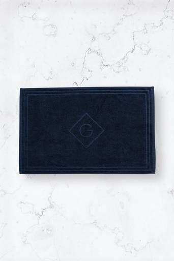 Gant Baderomsmatte Organic G 50 X 80 Cm Blå  Male Blå