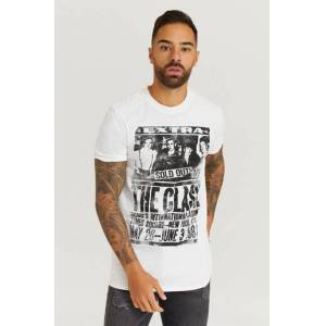 Rock Off Klær T-shirt T-shirts med logo eller trykk Male Hvit