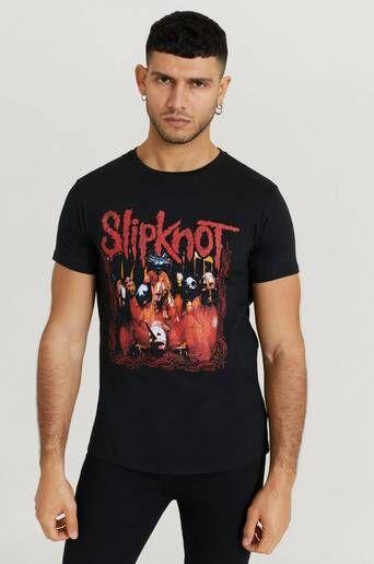 Rock Off T-Shirt Slipknot Tee Svart  Male Svart