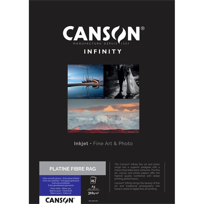 Canson Platine Fibre Rag A3 310g - 25 Ark