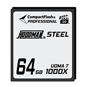 Hoodman Steel 64GB CF-kort Hoodman Compact Flash 1000X, 150Mb/s HS7
