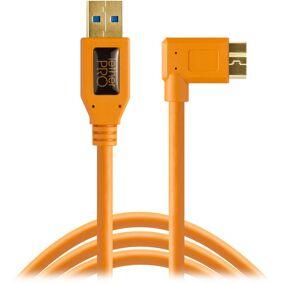 Tether Tools Tetherpro Usb 3.0 A Til Micro B Vinklet 4,6 M Orange Usb Kabel