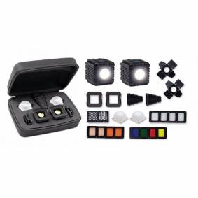 Cube Lume Cube 2.0 Profesjonell Lightning Kit Led Lys Kit Inkl 2stk Lamper 20 Deler +