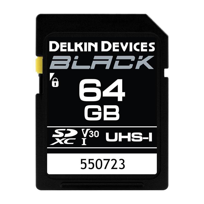 Delkin Sd Black Rugged Uhs-I (V30) 64gb R90/w90 64gb 48 Timers Ombyttegaranti