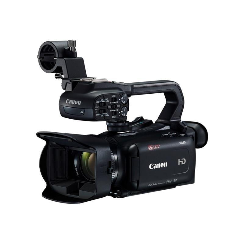Canon Xa15 Power Kit Sdi Og Hdmi Hd Videokamera Med 2x Batterier