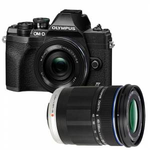 Olympus E-M10 Iv Kit + 14-42mm Ez Sort + 40-150mm F/4.0-5.6 R Sort