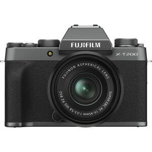 Fujifilm X-T200 Kit XC15-45mm OIS PZ Speilløst kamera - Dark Silver