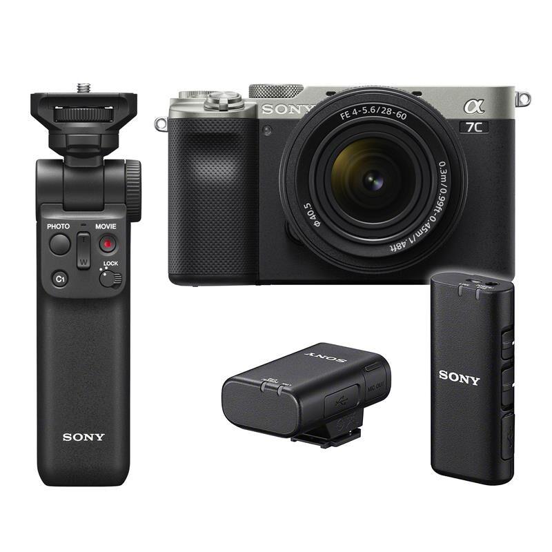 Sony A7c 28-60mm + Wireless Kit Wireless Grip & Mic