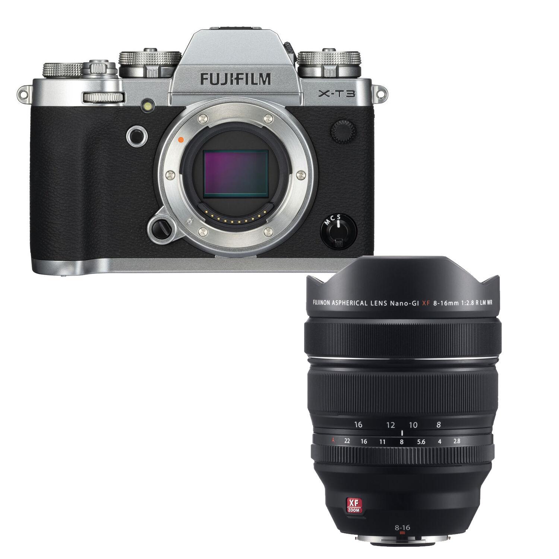 Fujifilm X-T3 sølv + XF 8-16mm f/2.8 Fujifilm XF 8-16mm f/2.8 R LM WR