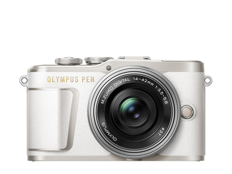 Olympus PEN E-PL9 Kit Hvit + 14-42mm EZ Pannekakezoom